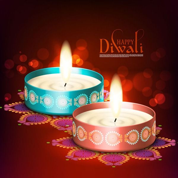 Exquisite Diwali poster – vector graphics