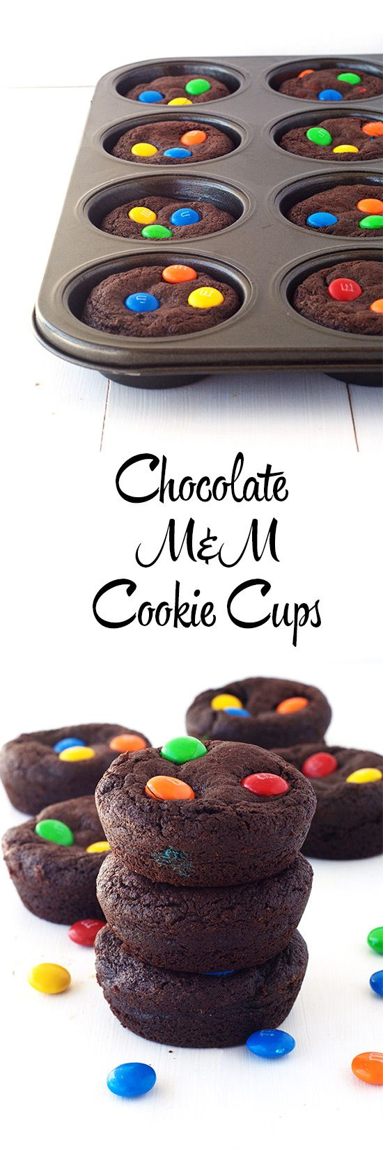 Cure those chocolate cravings with these easy Chocolate M&M'S Cookie Cups!
