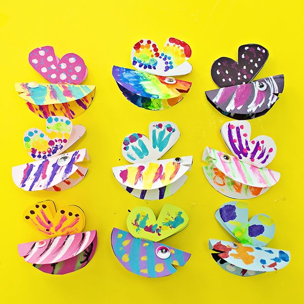 TRANSFORMING PAPER BUTTERFLY CRAFT