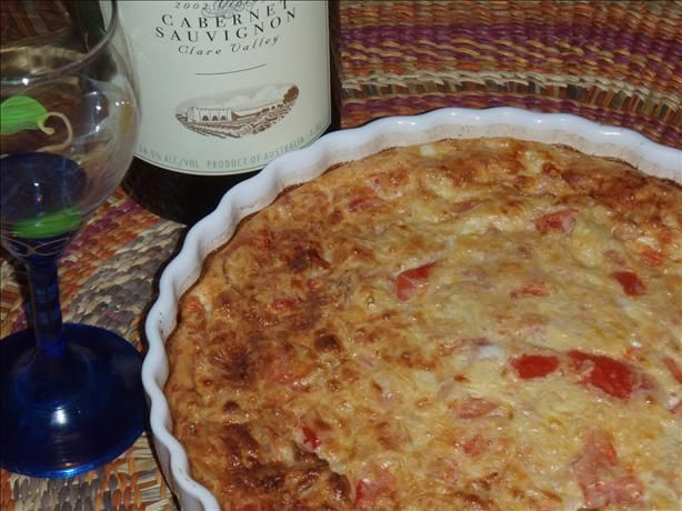 Simple Impossible Quiche  Great for a fall supper w/ salad  NOTE to self: Add tomatoes