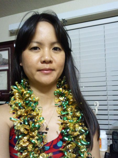 thaoie with werthers candy lei