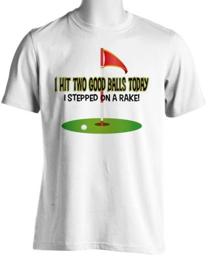 Funny Golfer Club T Shirt Hit Golf Balls Humorous Mens Small to 6XL and Tall