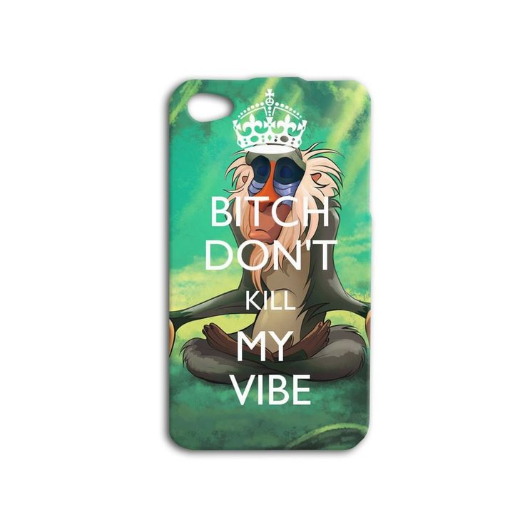 Don't Kill My Vibe Monkey Lion King Quote Funny iPhone Case Phone Cover