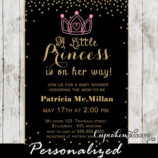 17 best images about princess theme baby shower invitations ideas diy