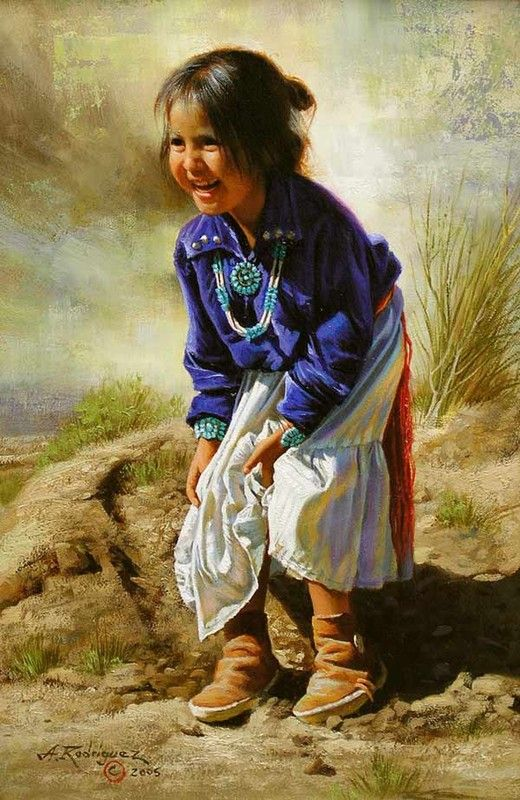 (ALFREDO RODRIGUEZ). This Little American Indian Girl is so Bubbly & Adorable at the Same Time.