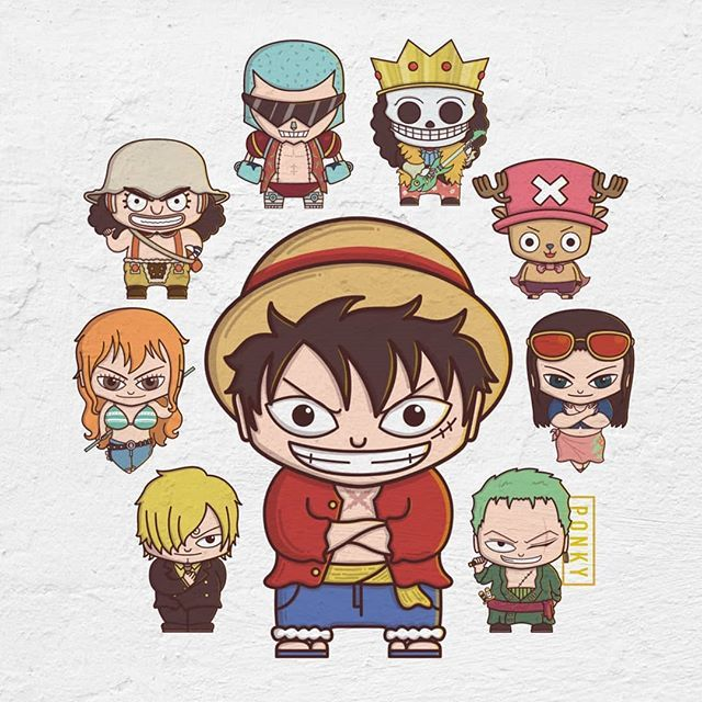 Si Topi Jerami Onepiece Manga Anime Bighead