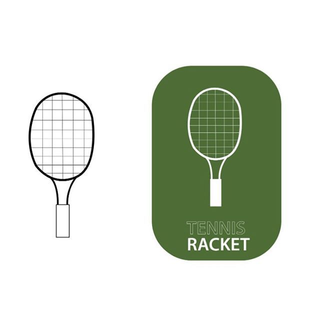 "89 Likes, 5 Comments - Adam Campbell-Olszewski (@acographic) on Instagram: ""Tennis Racket 