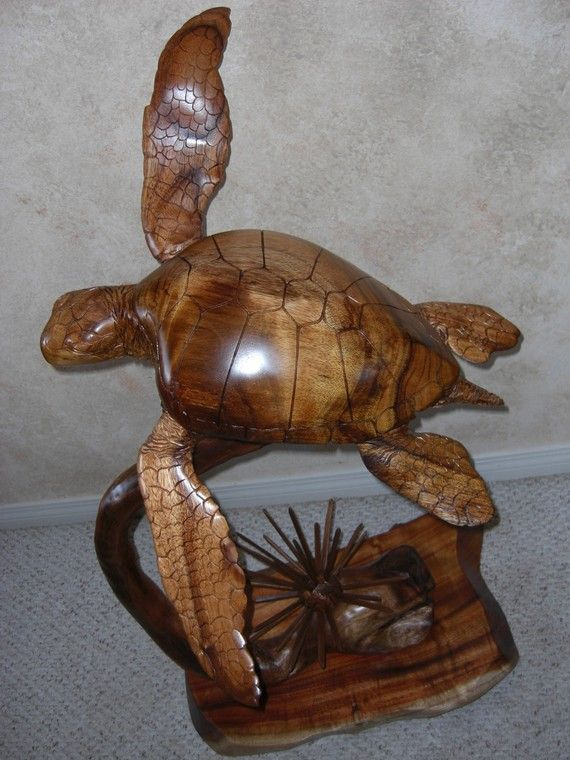 Ocean mariner turtle sculpture by thomaspendergrass on
