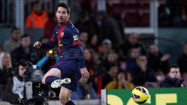 Messi, FC Barcelona. | FC Barcelona 5-1 Osasuna. 2013-01-27.