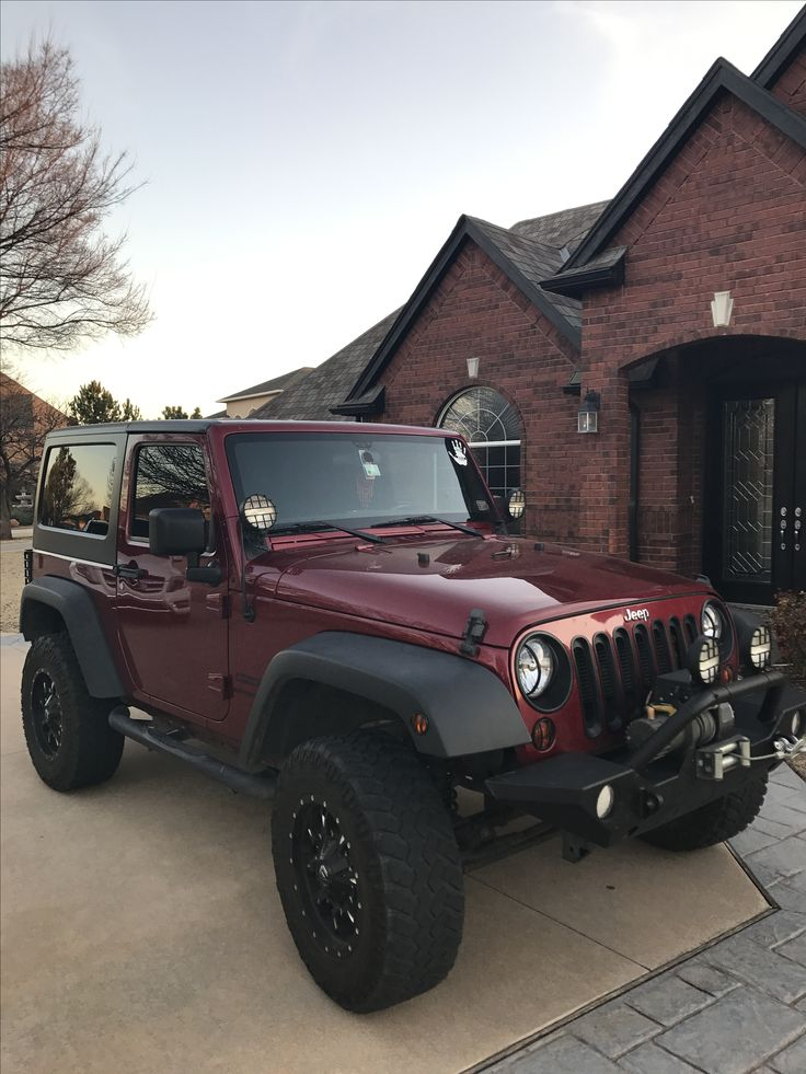 Like what you see⁉ Follow me on Pinterest ✨: @joyceejoseph ~ Maroon Jeep Wrangler
