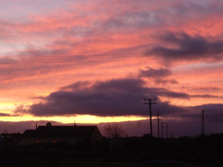 Sunset, Pink sky