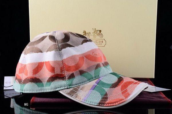 Coach Designer Baseball Caps Snapbacks Hats Orange Brown Green