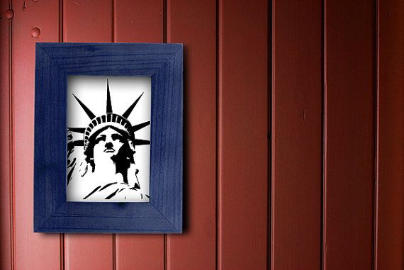 The Statue of Liberty, NYC Art, NYC Wall Decal, New York City Wall Decor, Wall Sticker, Vinyl Art, New York Art, State, USA, Lady Liberty