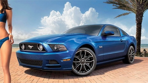 We love that Ford included a fake swimsuit model in their Mustang advertisement featured in Sports Illustrated's Swimsuit Edition. When readers Google her name (Dalena Henriques – which coincidentally is the name of our fake girlfriend who lives in Canada) they'll find her personal website which features glamour shots of the Mustang. #word