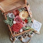 Le Sourire:母の日ギフトや贈呈用に…紅茶色のフラワーボックス | ハンドメイドマーケット minne