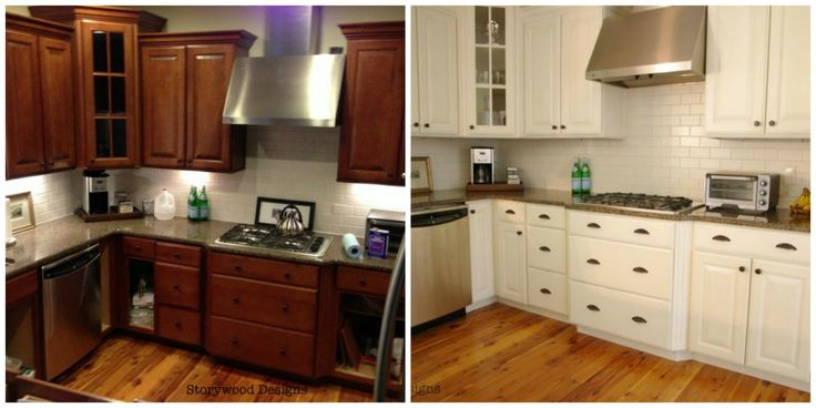 kitchen cupboards painted before after 3