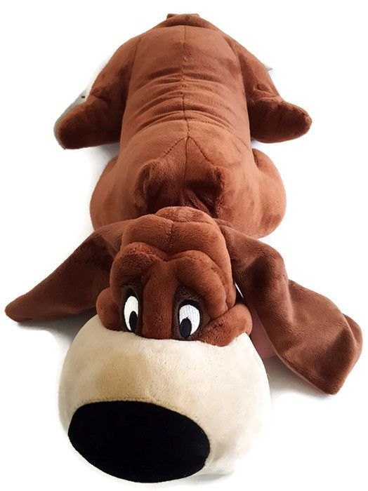 "Trusty Bloodhound  Plush Lady and the Tramp  Dog Disney Store Head to Tail  30"" #Disney"