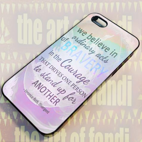 Divergent Dauntless The Brave For iPhone 5/5c/5s Black Rubber Case