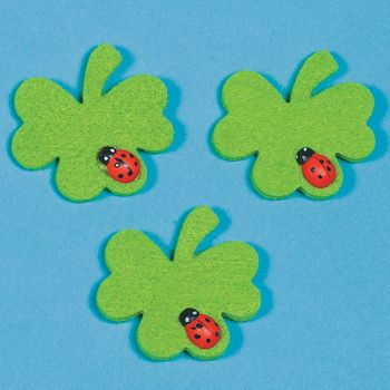"""girl scout swap ideas - Ireland    """"Beautiful ladybug, away it flies!   In that direction good luck lies.   If on a shamrock it does land,   TWICE the luck you'll have at hand."""""""