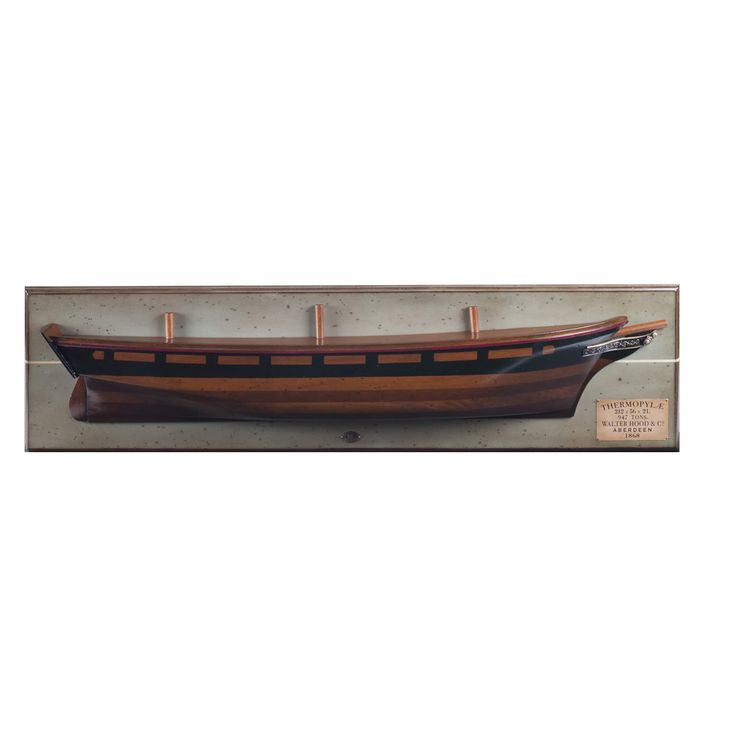 captjimscargo   thermopylae 1868 clipper ship wooden half