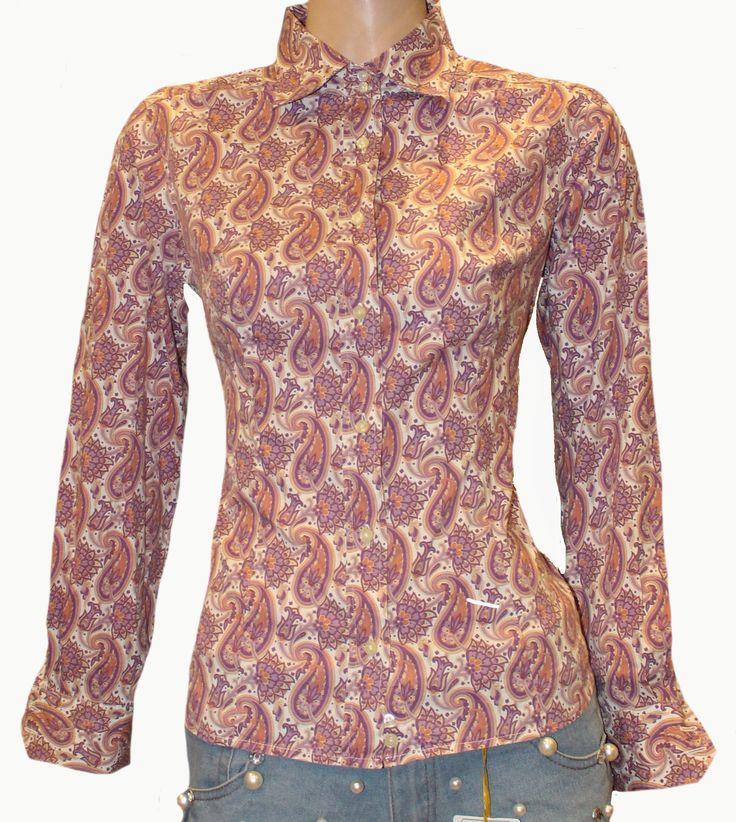 etro hemd bluse paisley stretch gr 38 kleidung modestil bluse