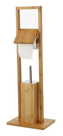 Escobillero portarrollos de pie aneko madera bambu - Casitas de madera leroy merlin ...