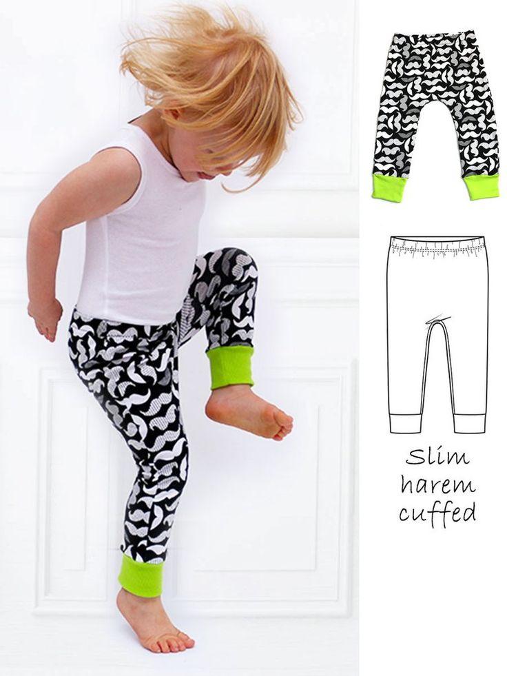 SAMMY - Slim Harem Leggings Sewing Pattern with Cuff
