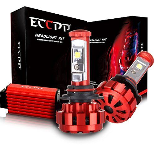ECCPP LED Headlight Bulbs Conversion Kit High Power Bright- 9012 - 80W,9600Lm 6K Cool White CREE - 3 Yr Warranty  Crystal Clear 6000K White Light @ 9,600Lm (4,800Lms Per Bulb) LED Lighting Without Dark Spots! Super Bright Chip, 4 CREE XLAMP XHP50 High Power LED Headlight, Improved Arc-Beam Technology?. 50,000 Hr Life-Time  Power: 80W (40W Each Bulb), Luminous Flux: 9600lm (4800lm Each Bulb), Color Temperature: 6000K, Super Bright But Will Not Dazzle The Other Traffics. Working Voltage:...