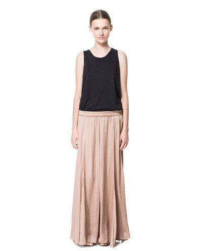 LONG FLOWY SKIRT | Zara