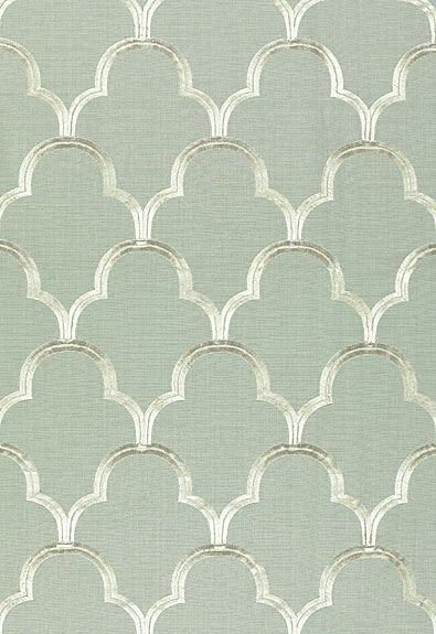Scallop Embroidery Schumacher Fabric // upholstery fabric. would be nice for bag