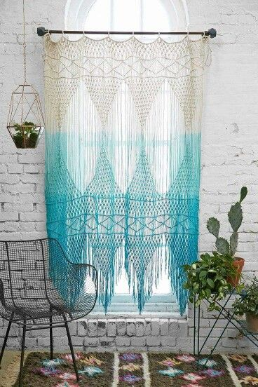 ☮ American Hippie Bohéme Boho Lifestyle ☮ Tie Die Crochet Curtains