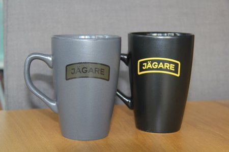 Coffee cups with JÄGARE print