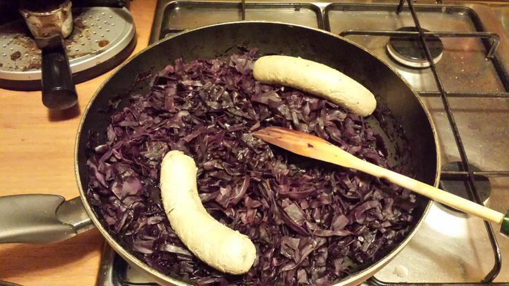 Veg Wurstel con crauti al vino bianco