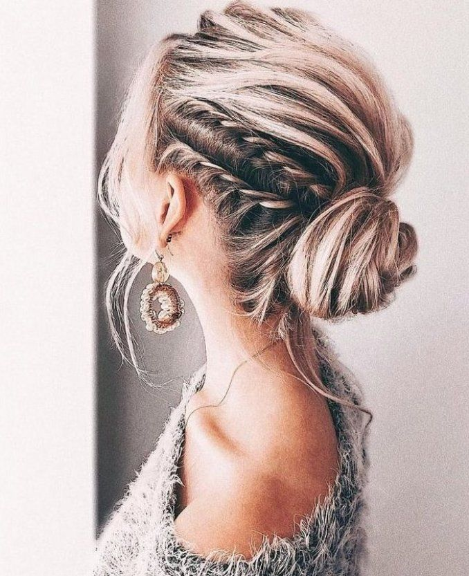 Gorgeous Wedding Updo Hairstyles Perfect For Ceremony And Reception Classic Elegant Bridal Hairstyle In 2020 Medium Length Hair Styles Medium Hair Styles Hair Styles