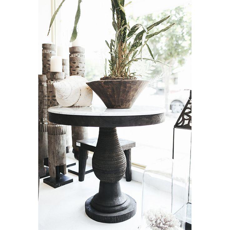 Manyara Home :: Furniture :: Tables :: Dark Wood Round Table