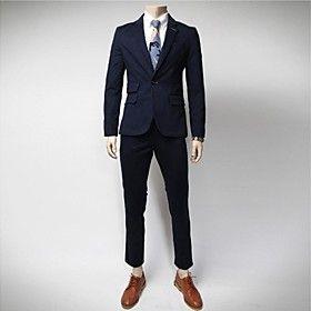 TaiChang™ Men's Fashion Washed Slim Suit Sets - Men's Apparel Deals