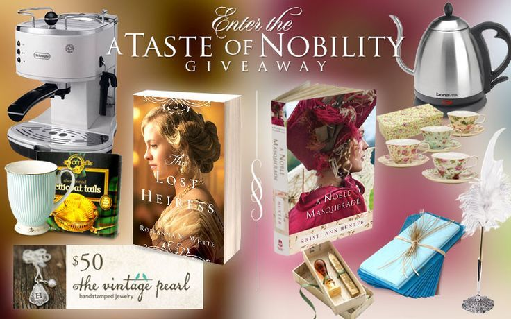 "Bethany House Publishers are having a #giveaway to celebreate the release of two fabulous new novels, ""The Lost Heiress"" by Roseanna M. White and ""A Noble Masquerade"" by Kristi Ann Hunter! Enter today!"