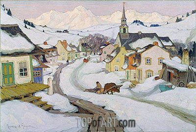 Clarence Gagnon   Village in the Laurentian Mountains, 1925