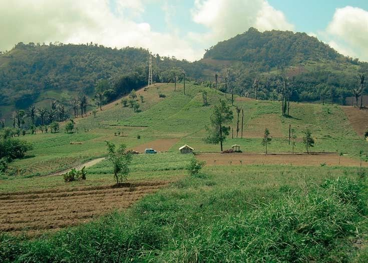 The Minahasa Highlands in North Sulawesi, Indonesia.