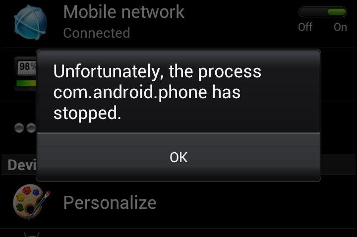 "Fix Samsung Galaxy S5 ""Unfortunately, the process com"