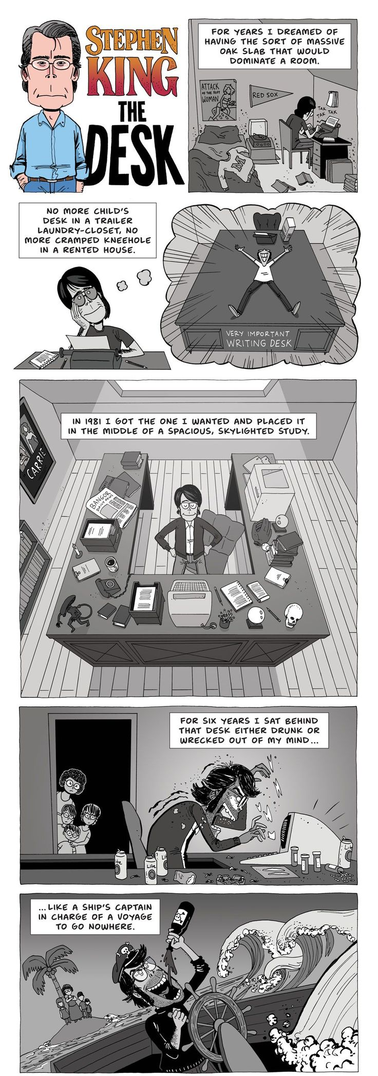 ZEN PENCILS » 207. STEPHEN KING: The desk