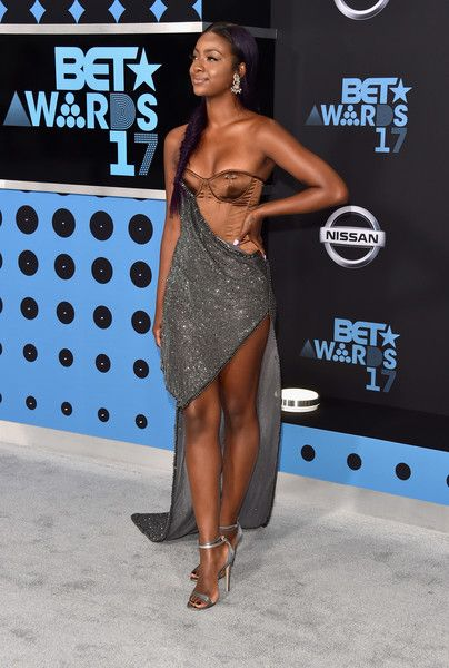 Justine Skye Photos Photos - Justine Skye at the 2017 BET Awards at Microsoft Square on June 25, 2017 in Los Angeles, California. - 2017 BET Awards - Arrivals