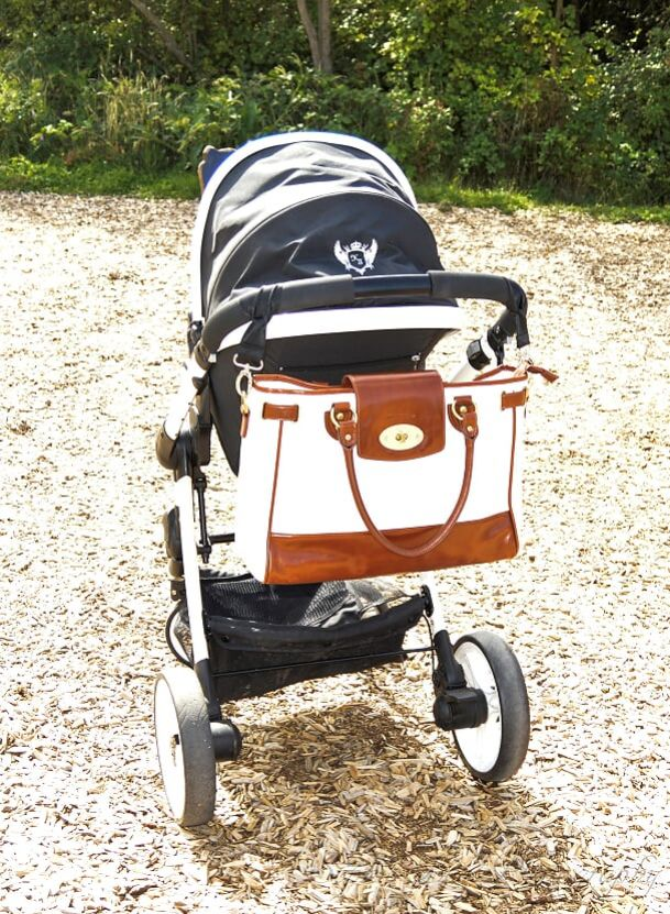 Our Duchess bag has plenty of room to hold all your baby items!