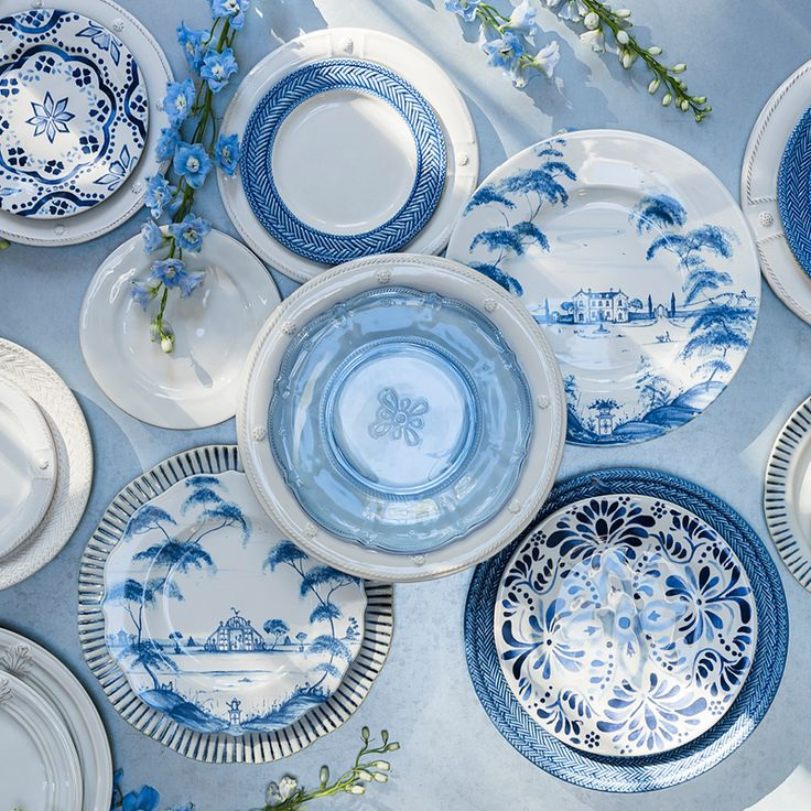 Eternally chic and effortlessly beautiful, any hue of blue is always right - especially when layered with white! Refresh your table for Spring with some of our rapturous blue plates and serving pieces,