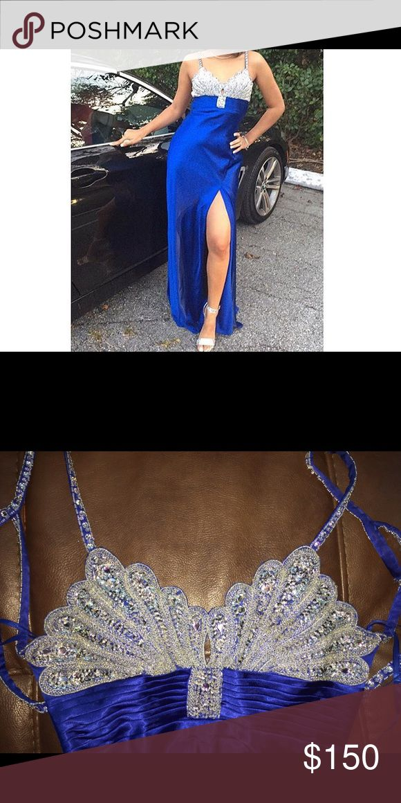 Prom dress Blue and silver. Super sparkly! Used once for prom night Dresses Backless