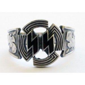 WW II German SS SILVER SPORTS BADGE ring