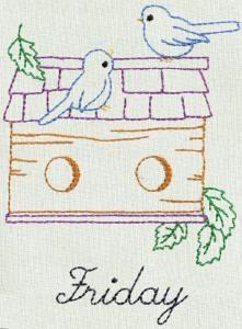 BIRDHOUSES DOW - Aunt Marthas Machine Embroidery | OregonPatchWorks