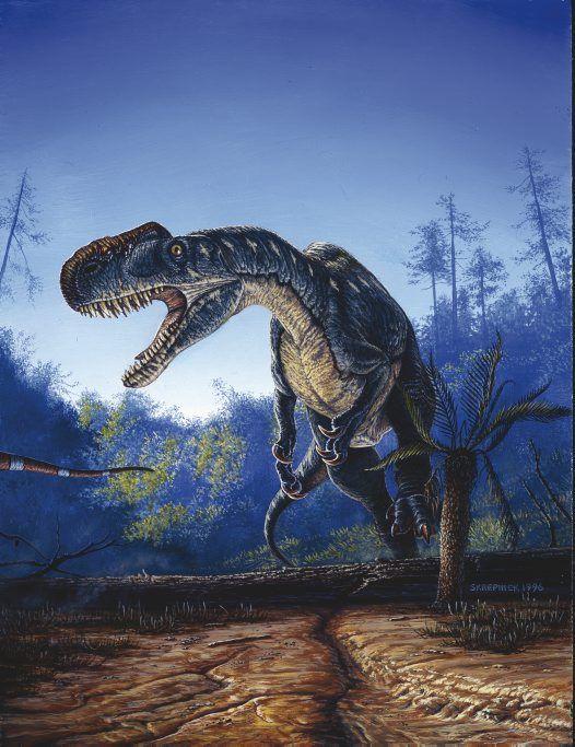 Monolophosaurus jiangi -- #paleoart by Michael Skrepnick