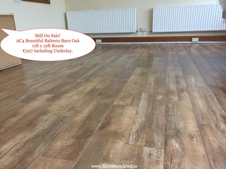 Our Sale is Still on Beautiful Balterio Barn Oak Laminate Wood Flooring 11ft x 12ft Room only €227 including underlay.