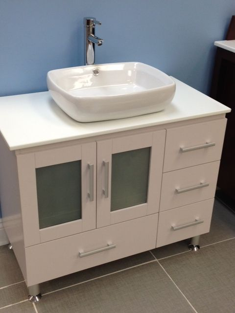 "Pine 36"" Bathroom Vanity with OverMount Sink: Home Decor Store Toronto and GTA - York Taps & Home Decor"
